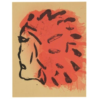 Claes Oldenburg, Indian Head from Peace Portfolio, 1972 For Sale