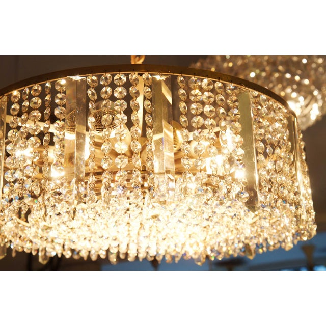 Silver Austrian chandelier made of cut metal by Bakalowits & Söhne For Sale - Image 8 of 11