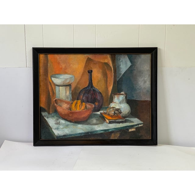 Midcentury Still Life Oil Painting For Sale - Image 11 of 12