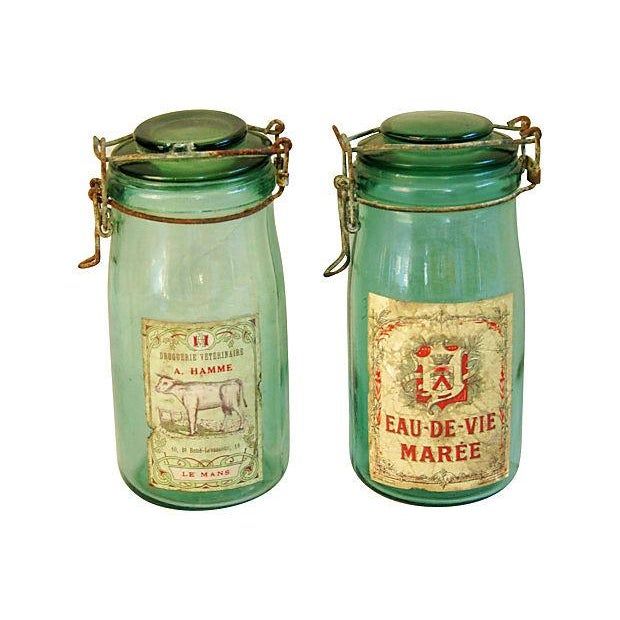 Early 1900s French Preserve Canning Jars - A Pair - Image 1 of 5