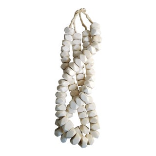 African Geometric Bone Bead Strands, 2 Piece