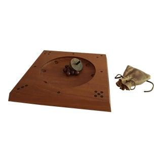 1960s Roll-Ette Teak Wood Game by Skjode of Skjern For Sale