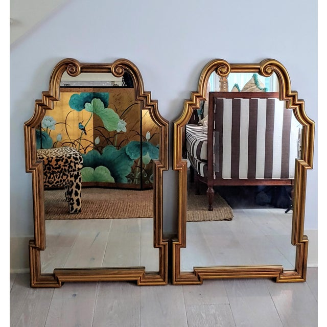 Miles Redd Hollywood Queen Ann Style Mirrors - a Pair For Sale - Image 9 of 9