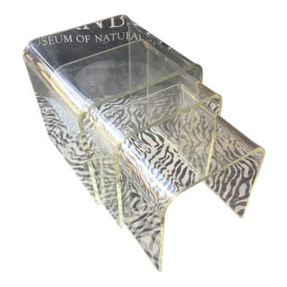 Vintage Lucite Nesting Tables - Set of 3