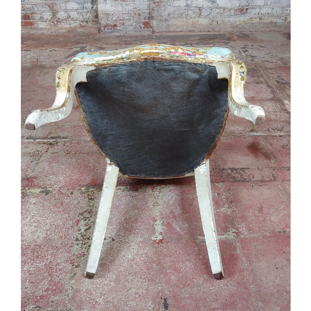 18th Century Venetian Painted and Upholstered Side Chair For Sale - Image 10 of 11