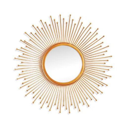 Kenneth Ludwig Chicago Kenneth Ludwig Celeste Gold Leaf Mirror For Sale - Image 4 of 4