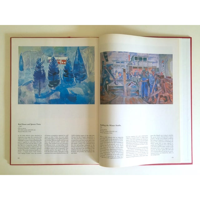 """Paper """" Munch """" First Edition Vintage 1990 Expressionist Hardcover Art Book For Sale - Image 7 of 13"""