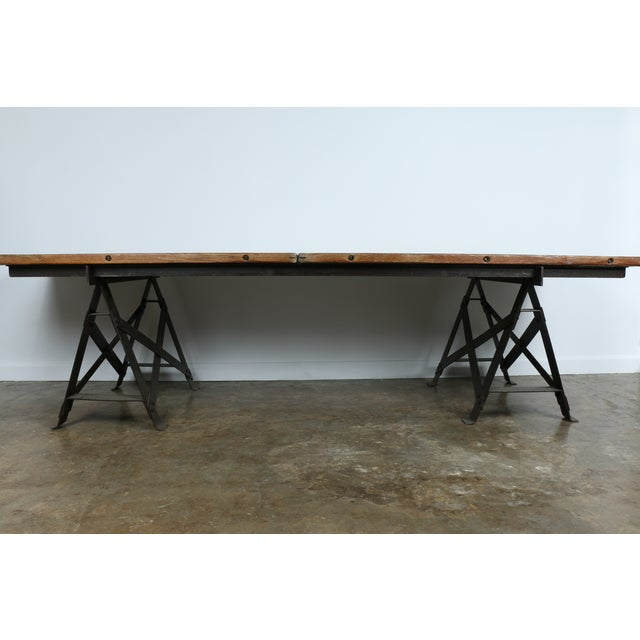 Vintage Industrial Table - Image 5 of 11