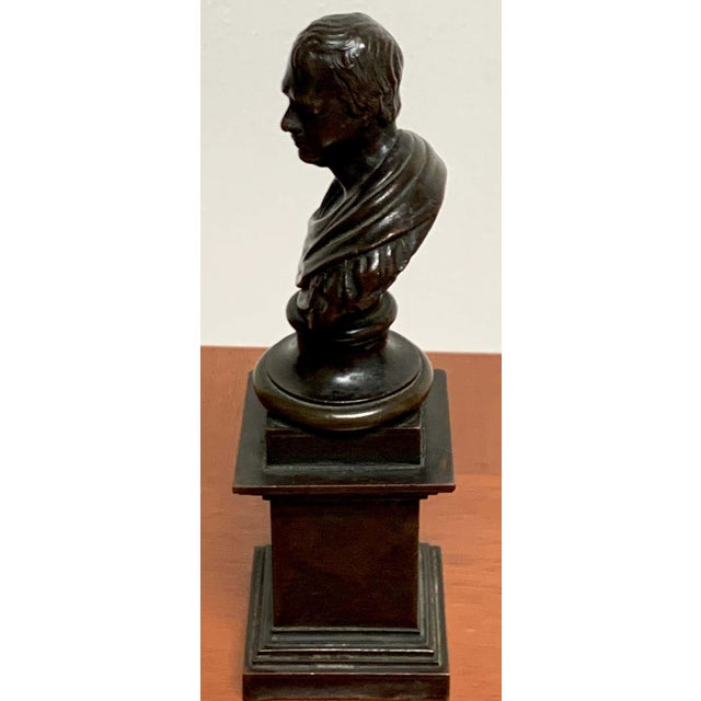 19th Century Regency Bronze Bust of Lord Byron For Sale In West Palm - Image 6 of 7