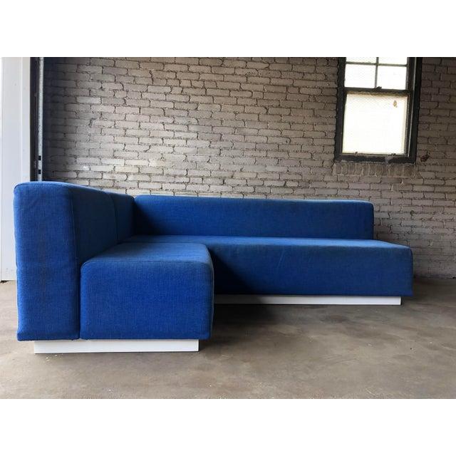 "Knoll Modular Sectional Sofa, circa 1972. Similar to the ""Suzanne"" sofa by Kazuhide Takahama. Organic form, bright white..."