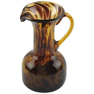 Empoli for Christian Dior Collection Tortoiseshell Glass Pitcher For Sale