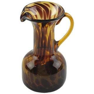 Tortoiseshell Glass Pitcher by Empoli, circa 1960s for Christian Dior Collection