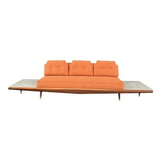 Mid Century Modern Floating Marble Sofa For Sale