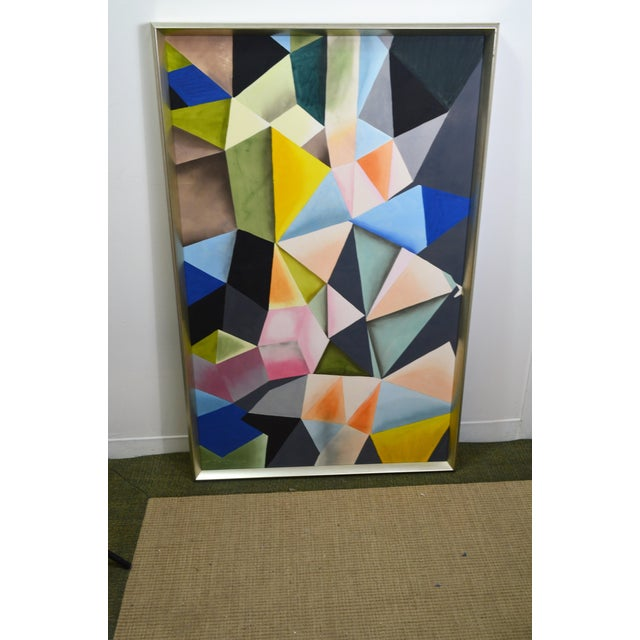 Abstract Bungalow 5 Hearst Silk Painting, Framed For Sale In Las Vegas - Image 6 of 9