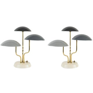 Pair of 1952 Gino Sarfatti Tricolore Table Lamps for Arteluce For Sale