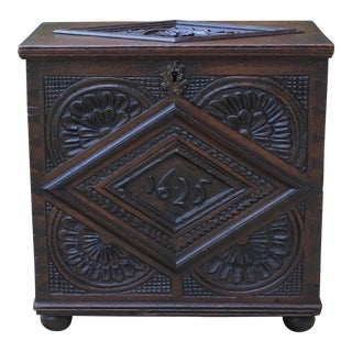 19th Century Antique English Blanket Chest For Sale