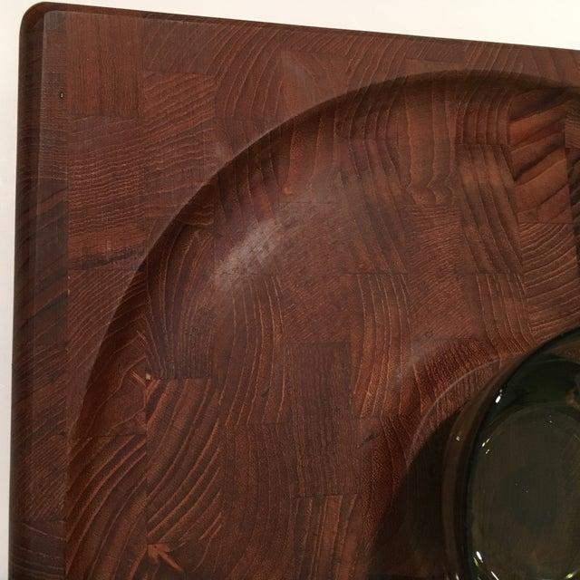 Mid-Century Kalmar Designs Teakwood Serving Tray For Sale - Image 5 of 9