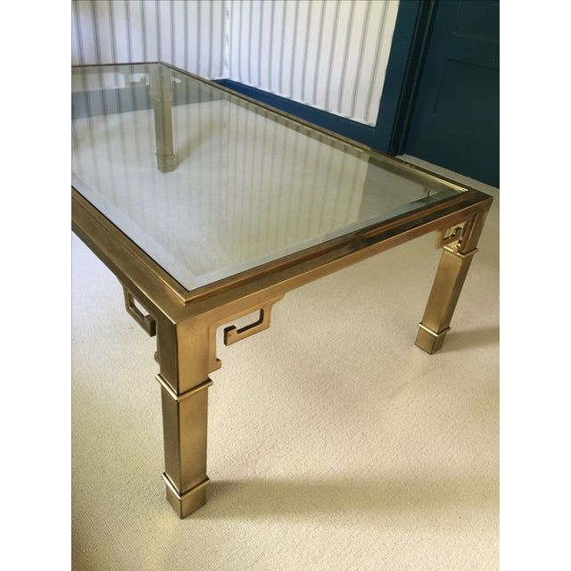 Mastercraft Brass and Glass Cocktail Table - Image 2 of 6