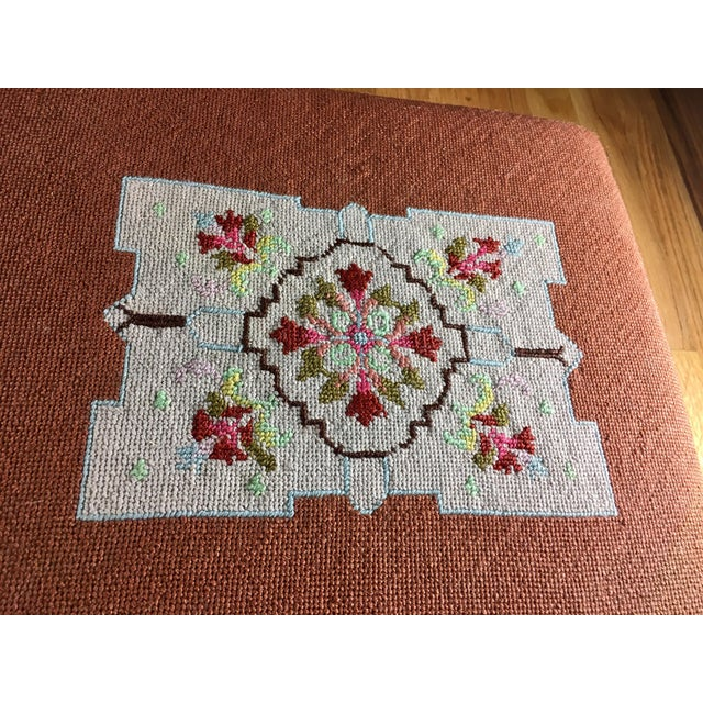 Kingman Needlepoint & Cast Iron Claw Foot Stool For Sale - Image 4 of 11