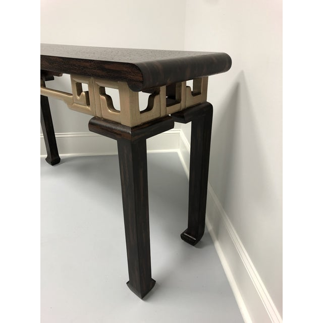 Vintage Baker Asian Inspired Sofa Table Console For Sale - Image 9 of 12