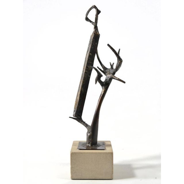 Tan Abstract Bronze Sculpture by Clyde Ball For Sale - Image 8 of 11