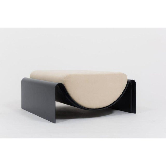 Minimalist Asa Pingree Eclipse Fiberglass Upholstered Ottoman For Sale In New York - Image 6 of 9