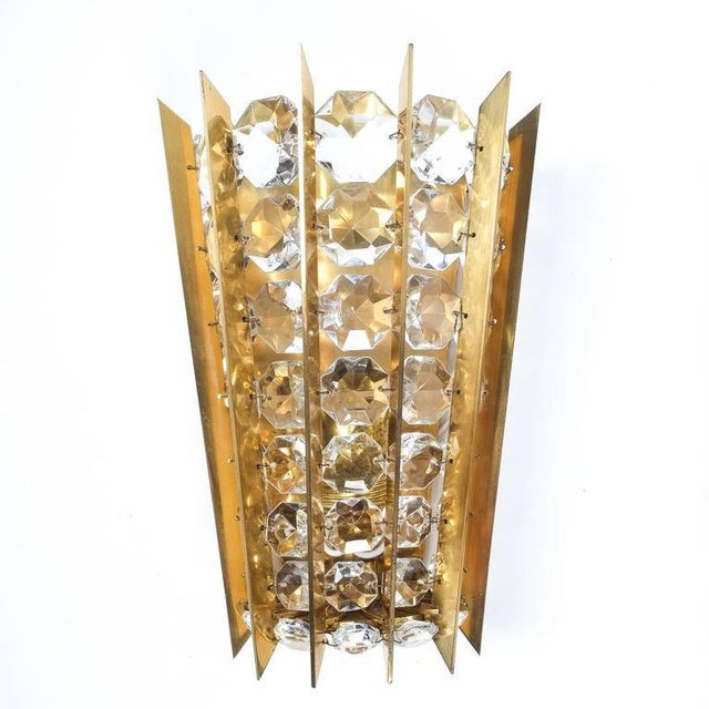 Set of Five Crystal and Brass Sconces by Bakalowits & Sohne For Sale - Image 6 of 8