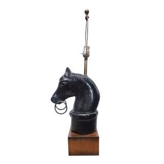 Mid-Century Brach-Allen Studio Horse Head Lamp For Sale