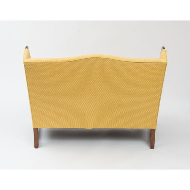 Original 1970s Stickley Love Seat in Yellow Fabric - Image 4 of 4
