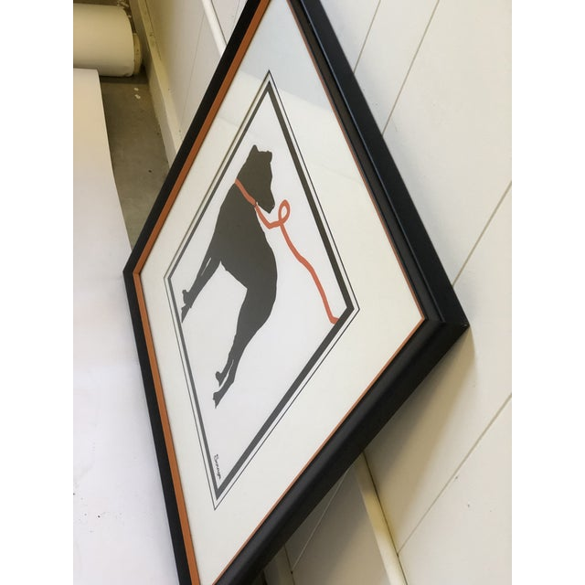 Stylized Artwork of a Dog on Orange Leash For Sale - Image 9 of 12