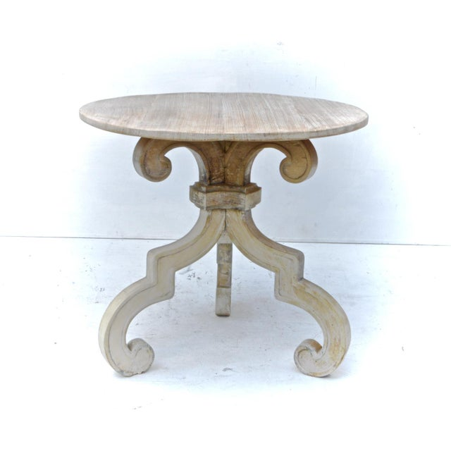 Swedish baroque gustavian style side table chairish for Oka gustavian side table