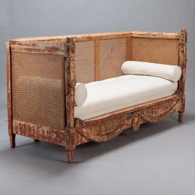 19th-Century Swedish Cane-Back Settee - Image 7 of 9