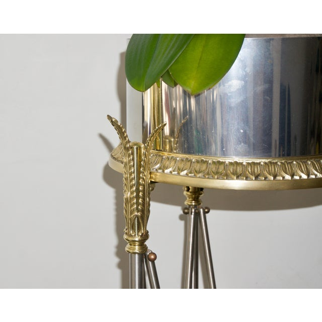 Metal Jardinière Stand Pedestal by Maison Jansen For Sale - Image 7 of 12