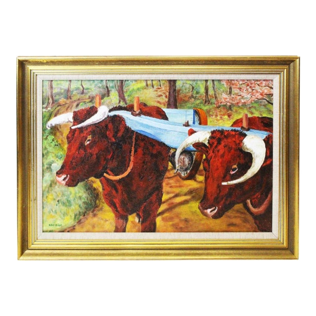 Image of Ede-Else Oxen Oil Painting on Canvas