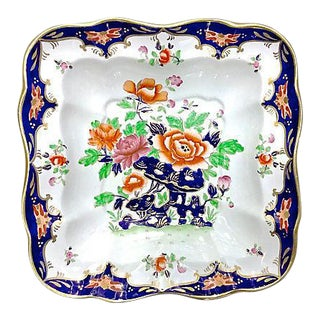 Antique Porcelain Chinoiserie Floral Dish For Sale