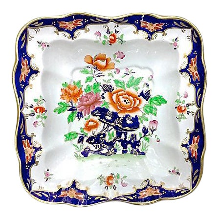 Antique Porcelain Chinoiserie Floral Dish - Image 1 of 5