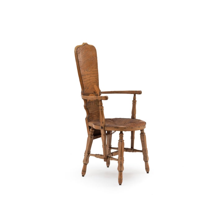 Rustic French Provincial Crane Arm Chair For Sale - Image 3 of 7