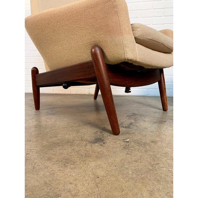 i.b. Kofod-Larsen High Back Lounge Chair Model Pd30 With Ottoman, Circa 1960 For Sale - Image 12 of 13