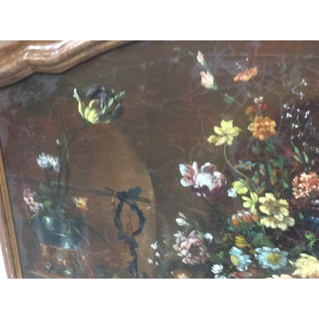 1900s Decorative Italian Still Life Floral Painting B For Sale - Image 5 of 11