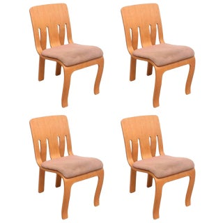 Thonet Bent Plywood Chairs, Set of 4 For Sale