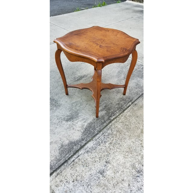 Rustic Antique Serpentine Side Table For Sale - Image 3 of 12
