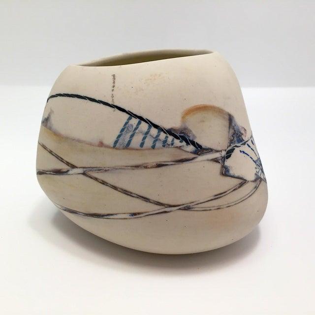 Late 20th Century Fine Art Contemporary Ceramic Vessel - Image 5 of 13