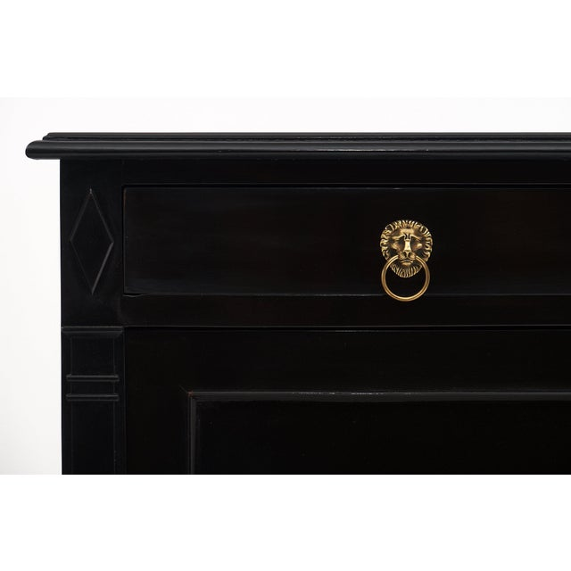 Ebonized Directoire Style Buffet For Sale In Austin - Image 6 of 11
