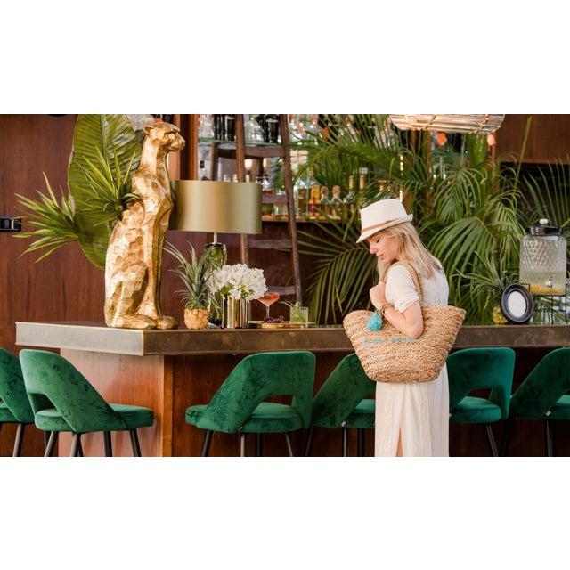 Green Green Velvet Bar Stool | Eichholtz Avorio For Sale - Image 8 of 9