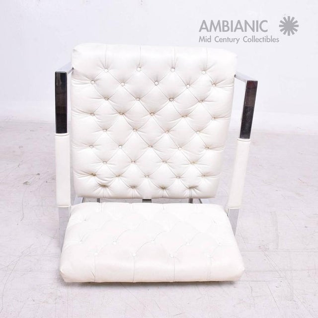 Milo Baughman for Thayer Coggin Tufted Armchair For Sale - Image 9 of 10