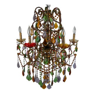 Bohemian Multi-Colored Chandelier