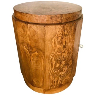 Edward Wormley for Dunbar Burl Wood Bar Cabinet