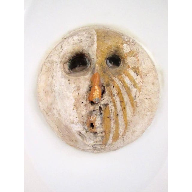 Mid-Century Modern Circa 1968 Mid-Century Modern Clay Wall Sculpture For Sale - Image 3 of 9