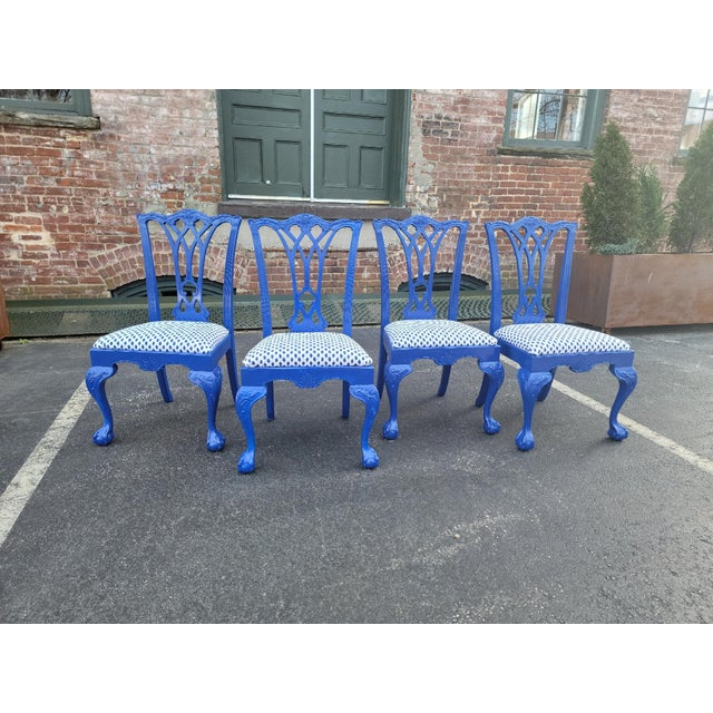 1980s Drexel Heritage Chippendale Chairs - Set of 4 For Sale - Image 12 of 12