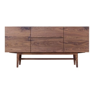 Danish Modern Walnut Market Sideboard For Sale